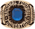Football Collectibles:Others, 1959 College Football Hall of Fame Ring Presented to Charley Trippi....