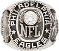 Football Collectibles:Others, 1980's Philadelphia Eagles Team Ring Presented to Defensive Back Roynell Young....