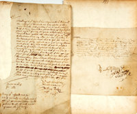 Pair of Seventeenth-Century Documents. Dated 1630 and 1661