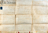 Land Indenture in the Reign of George The Third. Manuscript on vellum. Dated February, 1792