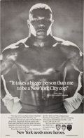 Boxing Collectibles:Memorabilia, 1980's Mike Tyson New York Police Department Poster....