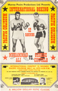 Boxing Collectibles:Memorabilia, 1972 Muhammad Ali vs. George Chuvalo On-Site Boxing Poster, Mounted on Board....