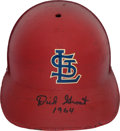 Baseball Collectibles:Others, 1963-65 Dick Groat Game Worn St. Louis Cardinals Helmet. ...