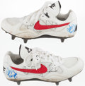 Football Collectibles:Others, 1994 John Taylor Game Worn, Signed San Francisco 49ers Cleats....