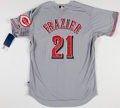 Baseball Collectibles:Uniforms, Todd Frazier Signed Cincinnati Reds Jersey....