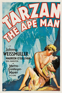"Tarzan the Ape Man (MGM, 1932). One Sheet (27"" X 41"") Style D"