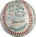Baseball Collectibles:Balls, Early 1970's Hall of Famers Multi Signed Baseball. ...