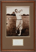 Golf Collectibles:Autographs, 1950's Bobby Jones Signed Index Card....