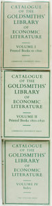 Books:Reference & Bibliography, Margaret Canney. Three Volumes from The Catalogue of theGoldsmiths' Library of Economic Literature. Cambridge: ...(Total: 3 Items)