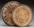 American Indian Art:Baskets, Two Hopi Twined Wicker Trays... (Total: 2 )