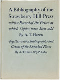 Books:Reference & Bibliography, A. T. Hazen. A Bibliography of the Strawberry Hill Press...Folkestone: Barnes and Noble Books and Dawsons of Pa...