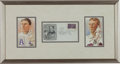 Baseball Collectibles:Others, 1939 Cy Young & Napoleon Lajoie Signed Grand Opening of Hall ofFame First Day Cover....