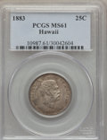 Coins of Hawaii: , 1883 25C Hawaii Quarter MS61 PCGS. PCGS Population (55/1139). NGCCensus: (62/844). Mintage: 500,000. ...