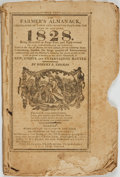 Books:Americana & American History, [Almanacs]. Robert B. Thomas. The Farmer's Almanack. No.XXXVI, 1828. Boston: Richardson and Lord, [1827]. . ...