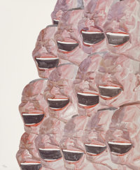 Yue Minjun (Chinese, b. 1962) Untitled (Smile-ism No. 13), 2006 Lithograph in colors on wove paper