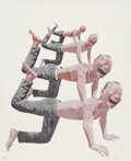Prints, Yue Minjun (Chinese, b. 1962). Untitled (Smile-ism No. 10), 2006. Lithograph in colors on wove paper. 43 x 35 inches (10...