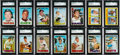 Baseball Cards:Sets, 1967 Topps Baseball Extremely High Grade Complete Set (609) WithOver 120 Graded Cards! ...