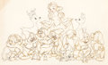 Animation Art:Production Drawing, Snow White and the Seven Dwarfs Publicity Drawing by FredMoore (Walt Disney, 1937)....