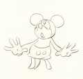 Animation Art:Production Drawing, Mickey Mouse Animation Drawing (Walt Disney, c. 1930s)....