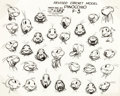 animation art:Model Sheet, Pinocchio and Jiminy Cricket Studio Model Sheet Group of 2 (Walt Disney, 1940).... (Total: 2 Items)