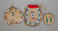 American Indian Art, Three Sioux Beaded Hide Pouches... (Total: 3 )
