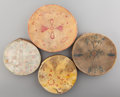 Other, Four Tesuque Painted Hide Hand Drums... (Total: 4 )