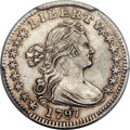 Early Half Dimes, 1797 H10C 15 Stars, V-2, LM-1, R.3 -- Repaired -- PCGS Genuine. AUDetails....