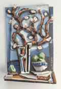 Texas:Early Texas Art - Modernists, David Bates (American, b. 1952). Apple Blossoms II, 1997.Painted bronze relief. 13 x 7-3/4 x 3 inches (33.0 x 19.7 x 7....
