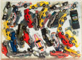 Sculpture, Arman (French/American, 1928-2005). Hot Wheels (Car Accumulation), 1985. Toy car and and poly-resin multiple. 8-3/4 x 12...
