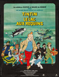 "Movie Posters:Animation, Tintin and the Lake of Sharks (Parafrance, 1972). French Grande(46"" X 61.5""). Animation.. ..."