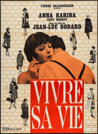 "Vivre Sa Vie (Pantheon, 1962). French Grande (45"" X 62""). Foreign"