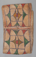 American Indian Art:Beadwork and Quillwork, A Blackfoot Painted Parfleche Storage Envelope. c. 1890. ...