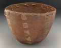 American Indian Art:Baskets, A Salish Polychrome Coiled Burden Basket . c. 1890...