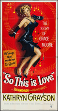 """Movie Posters:Musical, So This Is Love (Warner Brothers, 1953). Three Sheet (41"""" X 79""""). Musical.. ..."""