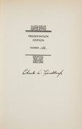 Books:Americana & American History, Charles A. Lindbergh. The Spirit of St. Louis. New York:Charles Scribner's Sons, 1953. Presentation edition, numb...
