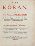 Books:Religion & Theology, [Koran]. [George Sale, translator]. The Koran, commonly called the Alcoran of Mohammed, translated into English immediat...