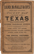 Books:Maps & Atlases, [Texana]. Rand, McNally & Co.'S Indexed County and RailroadPocket Map and Shippers' Guide of Texas. Accompanied by a Ne...