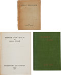Books:Literature 1900-up, James Joyce. Pomes Penyeach. Paris: Shakespeare and Company,1927. First edition. Sixteenmo. With errata slip tipped... (Total:2 Items)