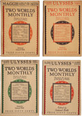 Books:Literature 1900-up, James Joyce. Ulysses. Serialized in Two WorldsMonthly. Edited by Samuel Roth. New York: Two Worlds Monthly,192... (Total: 3 Items)