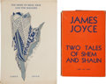 Books:Literature 1900-up, James Joyce. Two Tales of Shem and Shaun. London: Faber andFaber, [1932]. First British edition. Small octavo. 45, ... (Total:2 Items)