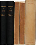 Books:Literature 1900-up, James Joyce. Ulysses. Hamburg, Paris, Bologna: The OdysseyPress, [1930-1935]. First, second and third impressions o...(Total: 5 Items)