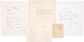 Books:Literature 1900-up, Aldous Huxley (British Writer and philosopher, 1894-1963).Collection of Autograph Letters. Including three Autograph Lett...