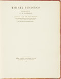 Books:Books about Books, G. D. Hobson. Thirty Bindings. London: The First Edition Club, 1926....