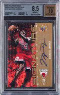 "Autographs:Sports Cards, 2009/10 Upper Deck ""Signature Collection"" Michael Jordan #165 BGSNM/MT+ 8.5 With Perfect 10 Autograph...."