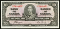Canadian Currency: , BC-24c $10 1937. ...