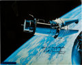 "Explorers:Space Exploration, Gemini 9A ""Angry Alligator"" Large Color Photo Signed by WaltCunningham and Originally from His Personal Collection. ..."