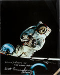 Explorers:Space Exploration, Apollo 9 Rusty Schweickart EVA Large Color Photo Signed by Walt Cunningham and Originally from His Personal Collection. ...