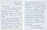 A Very Personal Charles Lindbergh Autograph Letter Signed to Harold E. Gray, Chairman and Chief Executive Officer of Pan...