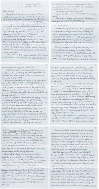 "Charles Lindbergh. Autograph Letter Signed ""Charles (A. Lindbergh)."" Eleven pages, r"