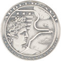 Explorers:Space Exploration, Apollo 17 Unflown Silver Robbins Medallion, Serial Number 288,Originally from the Personal Collection of Astronaut Jerry Carr...